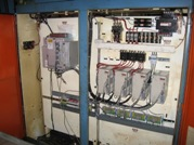 picture of retrofitted Devlieg 4K60 control electrical panel